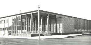 Central Library modernist building 1962